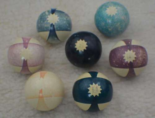 Antique Clay Burt Double Stripe Billiard Balls