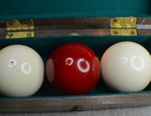 "Antique Pool Billiard Zanzibar Clear ""Highest – Grade"" Ivory Billiard Ball Set 1, c1880s"