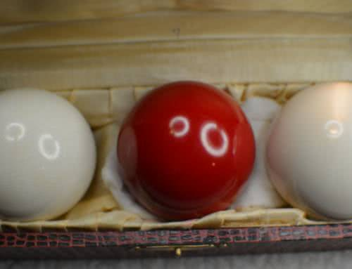 "Antique Zanzibar Clear ""Highest – Grade"" Ivory Billiard Ball Set 2. c1880's"