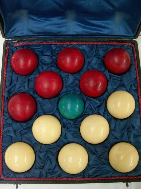 Antique French Ivory Game Ball Set c1880's