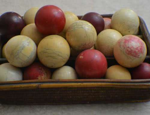 Antique Ivory Billiard Balls And Cue Balls c1880s