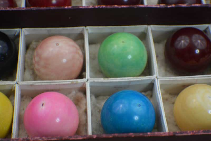 Ivory Snooker Ball Set With Original Label Box c1880's