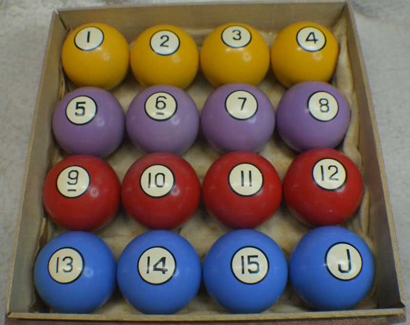 Antique Clay Poker bPool Ball Set