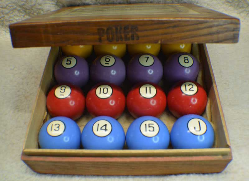 Antique Clay Poker Pool Ball Set