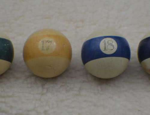 Antique Clay Scrimshaw Number Pool Game Baseballs c 1800's
