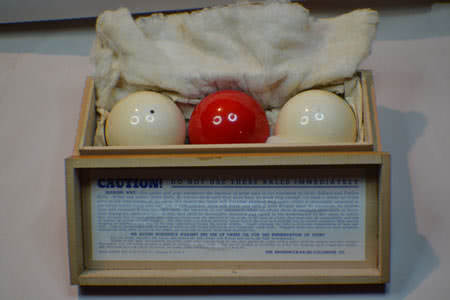Antique Zanzibar Ivory Three Ball Set With Box