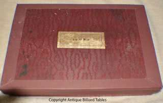 ivory Snooker Ball Set With Original Label Box c1880's