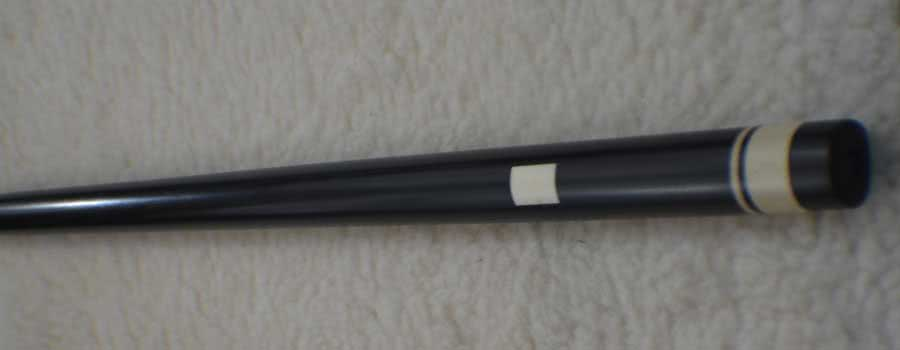 Antique B Finck Germany Zebra Spliced Ebony Pool Cue c1839