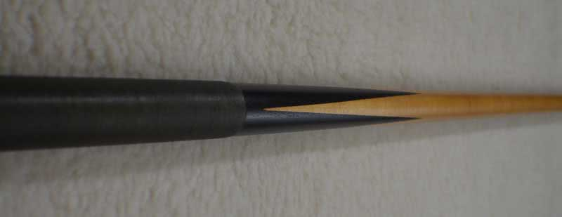 Antique Brunswick #220 Fish Pole Pool Cue c1915