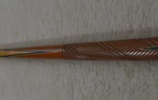 Antique Brunswick Carved Butt 26 1/2 Pool Cue c1915