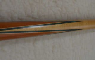 Antique Brunswick Carved Butt Titlist points 26 1/2 Pool Cue