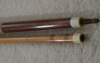 Antique Brunswick Sliced Pool Cue c1915