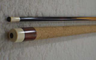 Antique Brunswick Spliced Pool Cue c1915