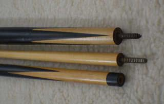 Antique Brunswick Ebony Eight Point Pool Cue c1915