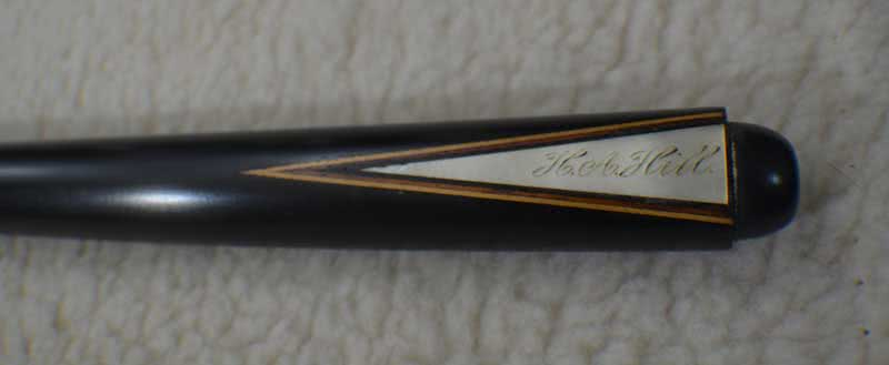 Antique Brunswick H A Hill Ebony Pool Cue