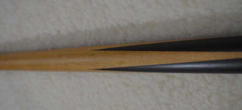 Antique Ebony & Ivory Pool Cue c1915