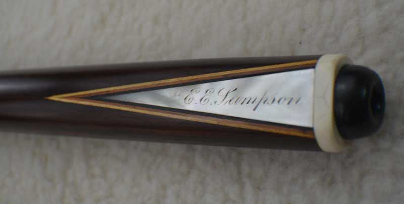 Antique Brunswick Signed Cue