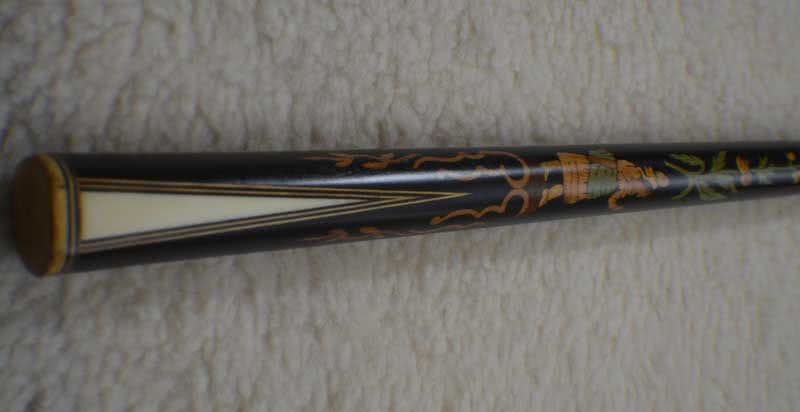 Antique French Marquetry Ebony Pool Cue c1730s - 1760