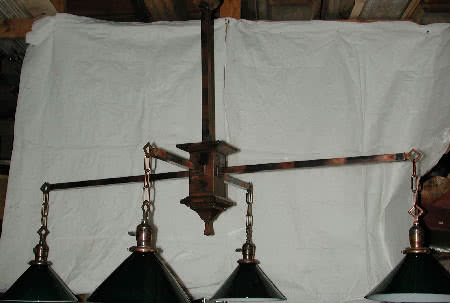 Antique Arts & Crafts Billiard Light