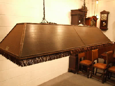 Antique Burroughs & Watts LTD Pool Table Light