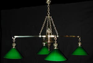 Antique Cast Bronze Pool Table Light