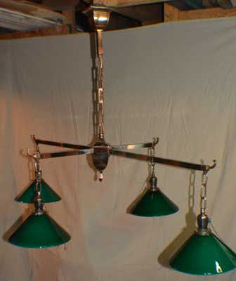 Antique Copper Pool Table Light