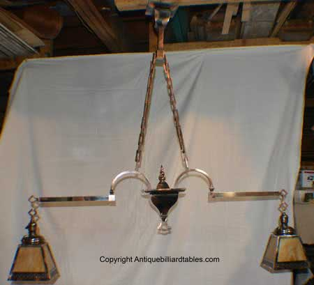 Antique Copper Japanned Billiard Chandelier