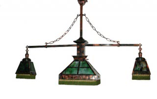 Antique Arts & Crafts-Style Mission Billiard Light