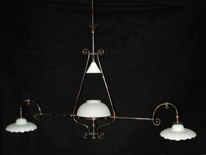 Antique Gas-O-Lier Billiard Light