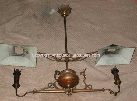 Antique Julius Balke Kerosene Billiard Lights