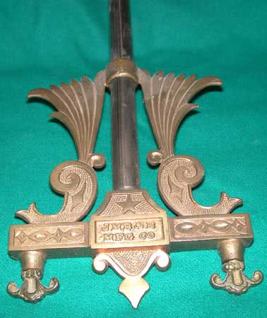 Antique JM Brunswick Kerosene Center Piece Font Holder
