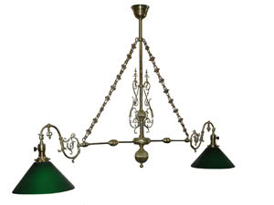 Antique Victorian Brass Pool Table Light