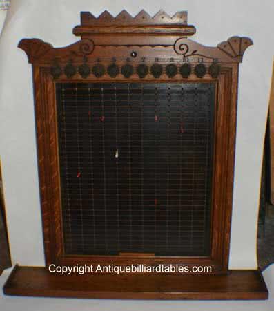 Antique J.M. Brunswick & Balke Billiard Company Pin Pool Board c1870's