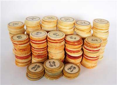 Antique Ivory Old West Poker Chips
