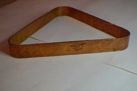 Antique Billiard Bentwood Triangle Dated 1880
