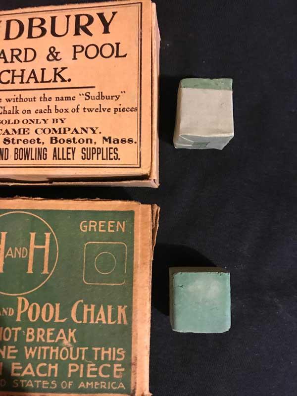 Antique Billiard Chalk H&H - Sudbury
