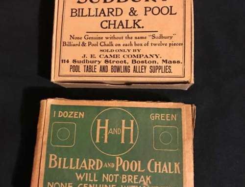 Antique Billiard Chalk H&H – Sudbury