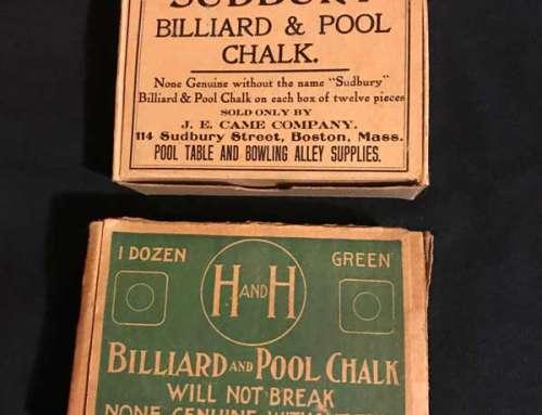 Antique Billiard Chalk H&H – Sudbury