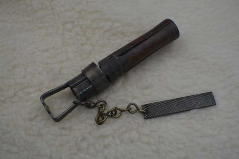 Antique Cue Tip Tool With File.