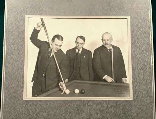 Antique Billiard Player Greats