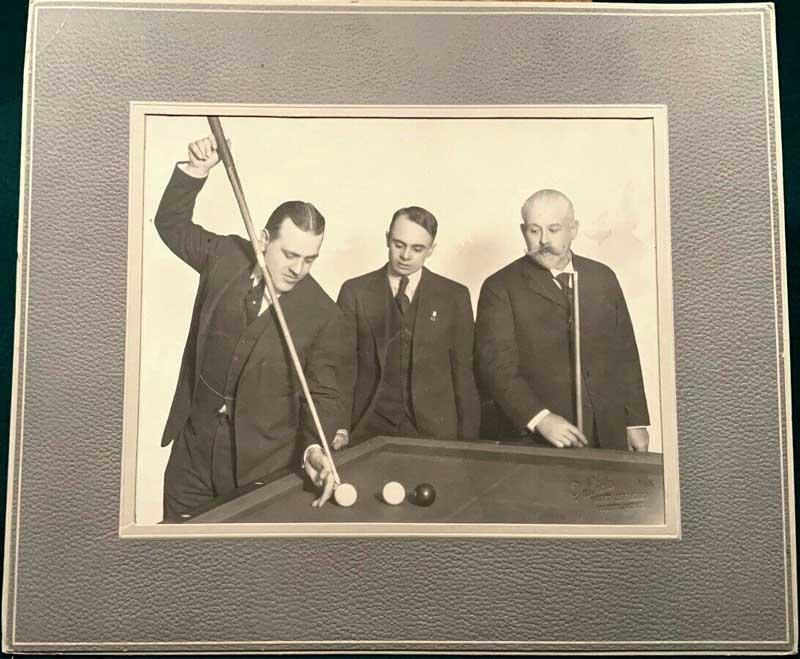 Antique Billiard Player Greats