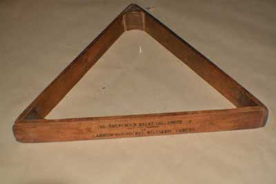 Antique Billiard Triangle