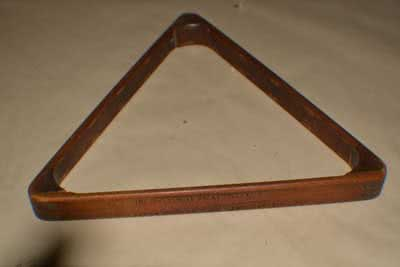 Antique Billiard Pool Table Triangle 114