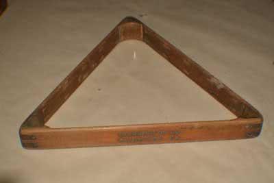 Antique Billiard Triangle