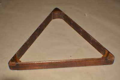 Antique Billiard Pool Table Triangle 119
