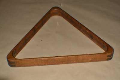 Antique Billiard Pool Table Triangle 120