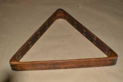 Antique Billiard Pool Table Triangle 121