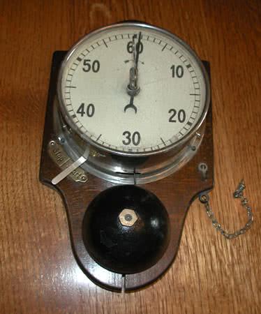 Antique Billiard Room Time Clock