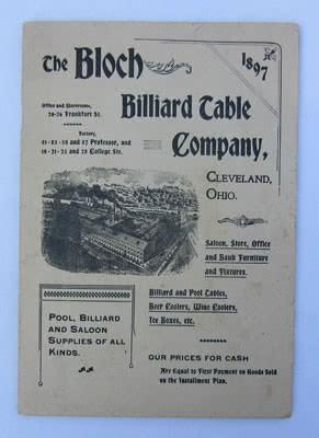 Antique Bloch Billiard Table Catalog Pool Tables