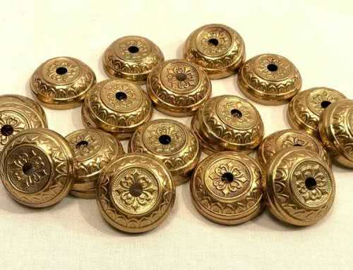 Antique Billiard Table Brass Rosettes c1870s/1890s